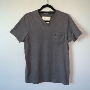 "3/$30 A&F grey ""muscle"" v neck XL t-shirt"
